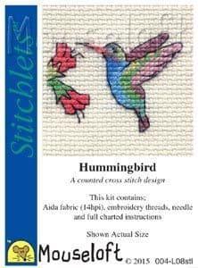 Mouseloft Hummingbird Stitchlets cross stitch kit